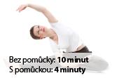 Cvičení svalů - Roztažení nohou