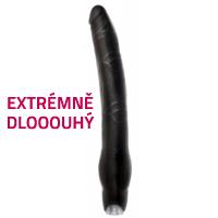 Velký a dlouhý černý vibrátor